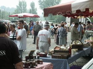 Au marché du dimanche matin