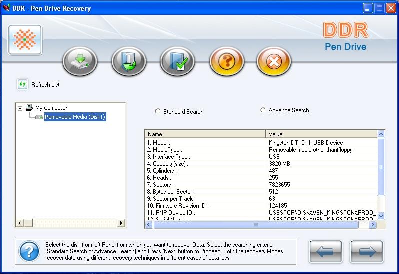 Logiciel de récupération de données sur clé USB