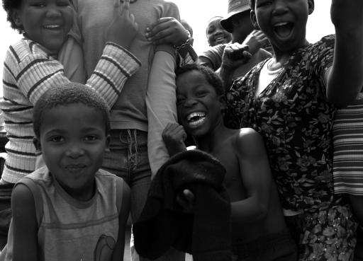 Enfants africains en voyage